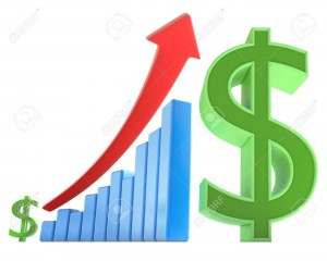 6703176-The-arrow-goes-up-indicating-an-increase-in-the-money-Concept-of-business-and-finances--Stock-Photo