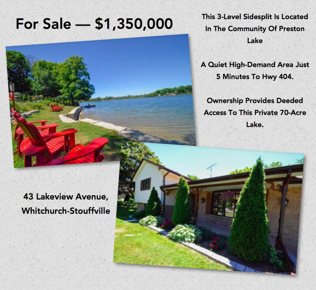 43 Lakeview, Stouffville, ON
